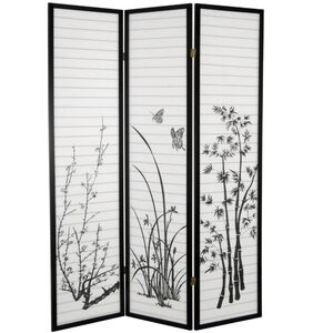 6 ft. Tall Bamboo and Blossoms Room Divider 3 Panels or 4 Panels (SSFWSC34)