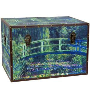 "Monet's Garden Art Trunk 24""W x 16""D x 16""H (CAN-TRNK-MONET3)"