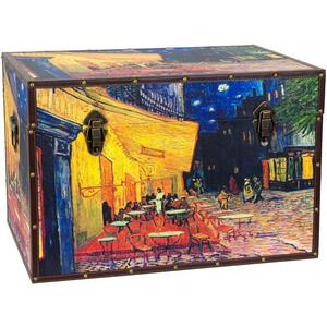 "Van Gogh's Cafe Terrace Trunk 24""W x 16""D x 16""H (CAN-TRNK-VANG3)"