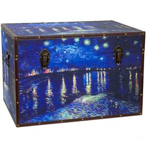 "Van Gogh's Starry Night Over the Rhone Trunk 24""W x 16""D x 16""H (CAN-TRNK-VANG2)"