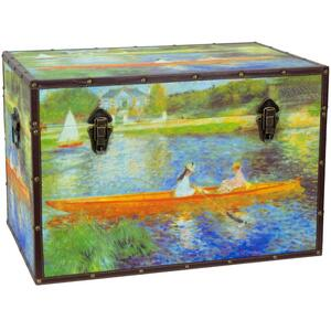 "Faux Leather Renoir The Seine Trunk 24""W x 16""D x 16""H (CAN-TRNK-RENOIR2)"