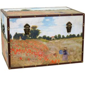 "Monet's Poppies Trunk 24""W x 16""D x 16""H (CAN-TRNK-MONET)"
