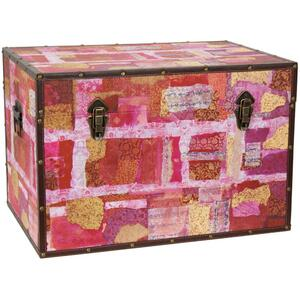 "Avant-Garde Collage Trunk 24""W x 16""D x 16""H (CAN-TRNK-GITA2)"