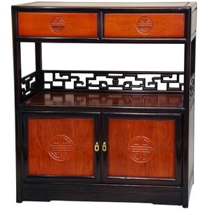 Rosewood Long Life Display Shelf Cabinet - Two-Tone Finish (ST-PJ119A-2)