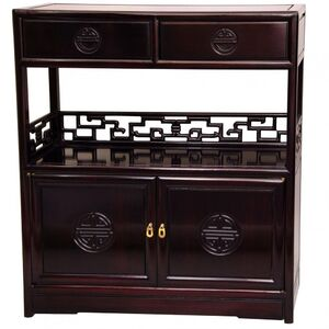 Rosewood Long Life Display Shelf Cabinet - Dark Cherry Finish (ST-PJ119A-R)