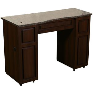 Canterbury B - Single Manicure Table - Full Marble Top (FT503B)