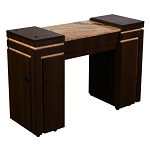 Carina A - Single Manicure Table - Half Marble Top (FT505A)