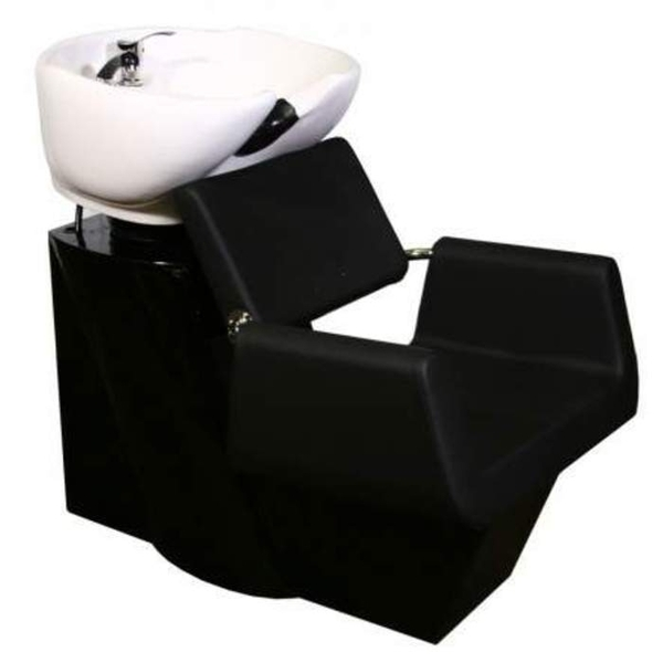Beatrice Shampoo Chair Station - BlackBlackWhite (SF3971-BBW)
