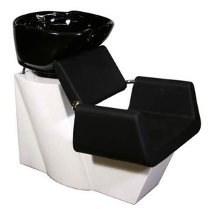Beatrice Shampoo Chair Station - BlackWhiteBlack (SF3971-BWB)