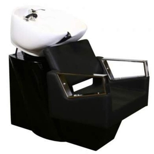 Fiore Shampoo Chair Station - BlackBlackWhite (SF3895-BBW)