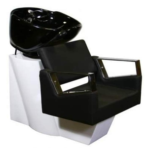 Fiore Shampoo Chair Station - BlackWhiteBlack (SF3895-BWB)