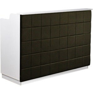 "The Fab Reception Desk - 60"" Wide - White Structure Black Façade ()"
