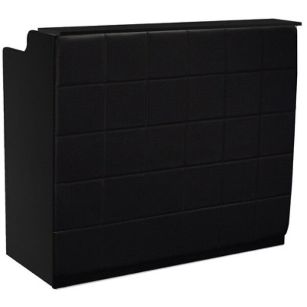 "The Fab Reception Desk - 48"" Wide - Black Structure Black Façade ()"
