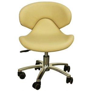 "The Orsola Pedicure Stool - Almond Seat Height 13.25""-16"" (FC1001-208P)"