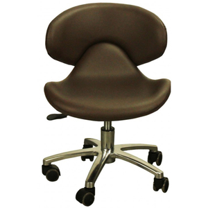 "The Orsola Pedicure Stool - Mocha Seat Height 13.25""-16"" (FC1001-239P)"