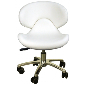 "The Orsola Pedicure Stool - White Seat Height 13.25""-16"" ()"