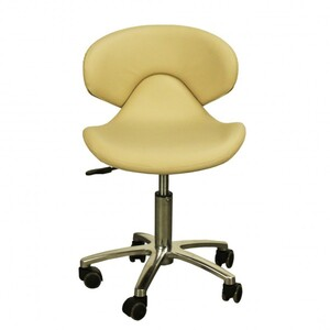 "The Orsola Technician Stool - Almond Seat Height 16.5""-22"" ( FC1001-208T )"