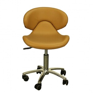 "The Orsola Technician Stool - Caramel Seat Height 16.5""-22"" ( FC1001-046T )"