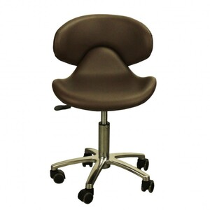 "The Orsola Technician Stool - Mocha Seat Height 16.5""-22"" ( FC1001-239T )"