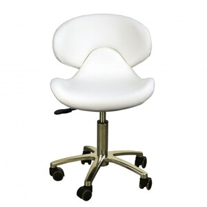 "The Orsola Technician Stool - White Seat Height 16.5""-22"" ()"