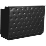 "The Elizabeth Reception Desk - 60"" Wide - Black Structure Black Façade (SF1121BB)"