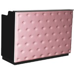 "The Elizabeth Reception Desk - 60"" Wide - Black Structure Pink Façade (SF1121BP)"