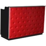 "The Elizabeth Reception Desk - 60"" Wide - Black Structure Red Façade (SF1121BR)"