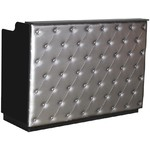 "The Elizabeth Reception Desk - 60"" Wide - Black Structure Silver Façade (SF1121BS)"