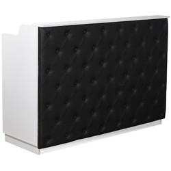 "The Elizabeth Reception Desk - 60"" Wide - White Structure Black Façade (SF1121WB)"