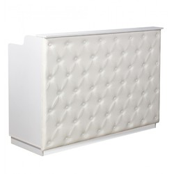 "The Elizabeth Reception Desk - 60"" Wide - White Structure White Façade (SF1121WW)"
