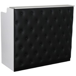 "The Elizabeth Reception Desk - 48"" Wide - White Structure Black Façade (SF1122WB)"