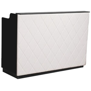 "The Le Beau Reception Desk - 60"" Wide - Black Structure White Façade (SF1121-P02W)"