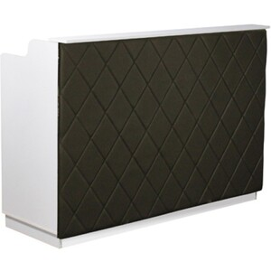 "The Le Beau Reception Desk - 60"" Wide - White Structure Black Façade (SF1121W-P02B)"