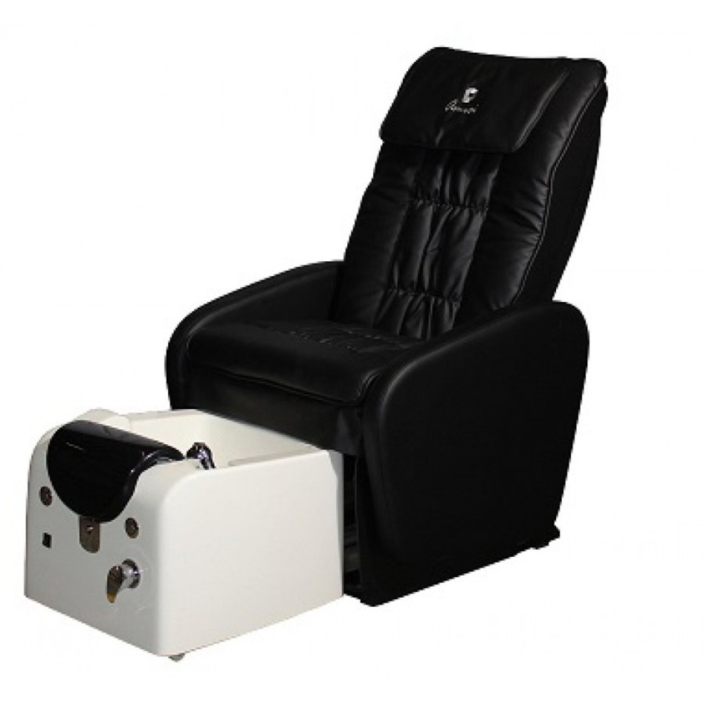 Amici Pedicure Spa Chair With Auto Retractable Tub Black Chair + White Tub  (FP110 01 + ...
