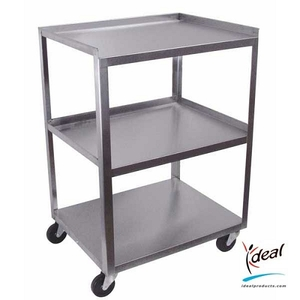 "3 Shelf Stainless Steel Utility Cart 21""x16""x30"" by Ideal Products (MC321)"