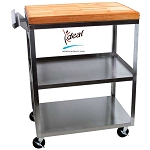 "3 Shelf Stainless Steel Kitchen Cart 24""x16""x 32"" by Ideal Products (MC311B MC311)"