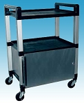 "3 Shelf Poly Cabinet Cart 21""x15""x 30"" by Ideal Products (UC320K)"