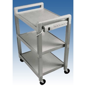 "3 Shelf Powered Poly Cart 21""x15""x30"" by Ideal Products (UC320P)"