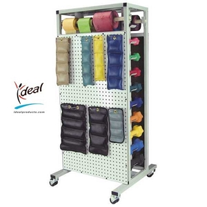 "Double Sided Combo Weight Rack 24""x24""x53"" by Ideal Products (MWR65)"