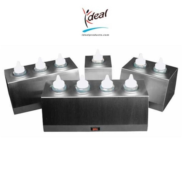 "4 Bottle Economy Bottle Warmers 6""x15""x5"" by Ideal Products (EBW-4)"