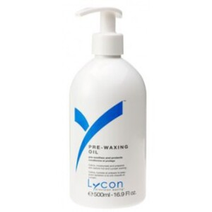 Lycon Pre-Waxing Oil with Apricot Kernel Oil Jasmine and Chamomile 500 mL. - 17 oz. Each Case of 15 (WAPO1 X 15)