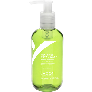 Lycon Tea Tree Total Wash 250 mL. - 8.45 oz. Each Case of 25 - Retail Item! (WBTW250 X 25)