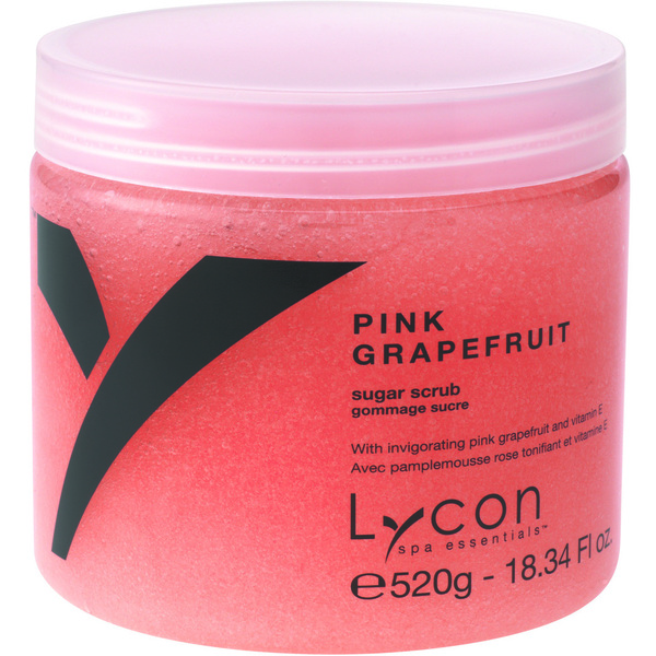 Lycon Exfoliating Sugar Scrub - Pink Grapefruit 520 grams - 8.34 oz. Each Case of 18 - Retail Item! (WBSG520 X 18)