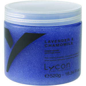 Lycon Exfoliating Sugar Scrub - Lavender & Chamomile 520 grams - 8.34 oz. Each Case of 18 - Retail Item! (WBSL520 X 18)