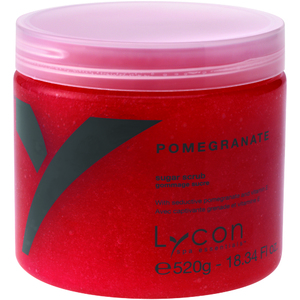 Lycon Exfoliating Sugar Scrub - Pomegranate 520 grams - 8.34 oz. Each Case of 18 - Retail Item! (WBSP520 X 18)
