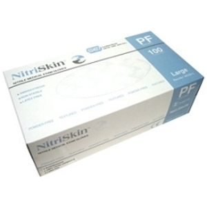 MEDGLUV NitriSkin Nitrile Gloves, Powder-Free (Blue) / 100/box