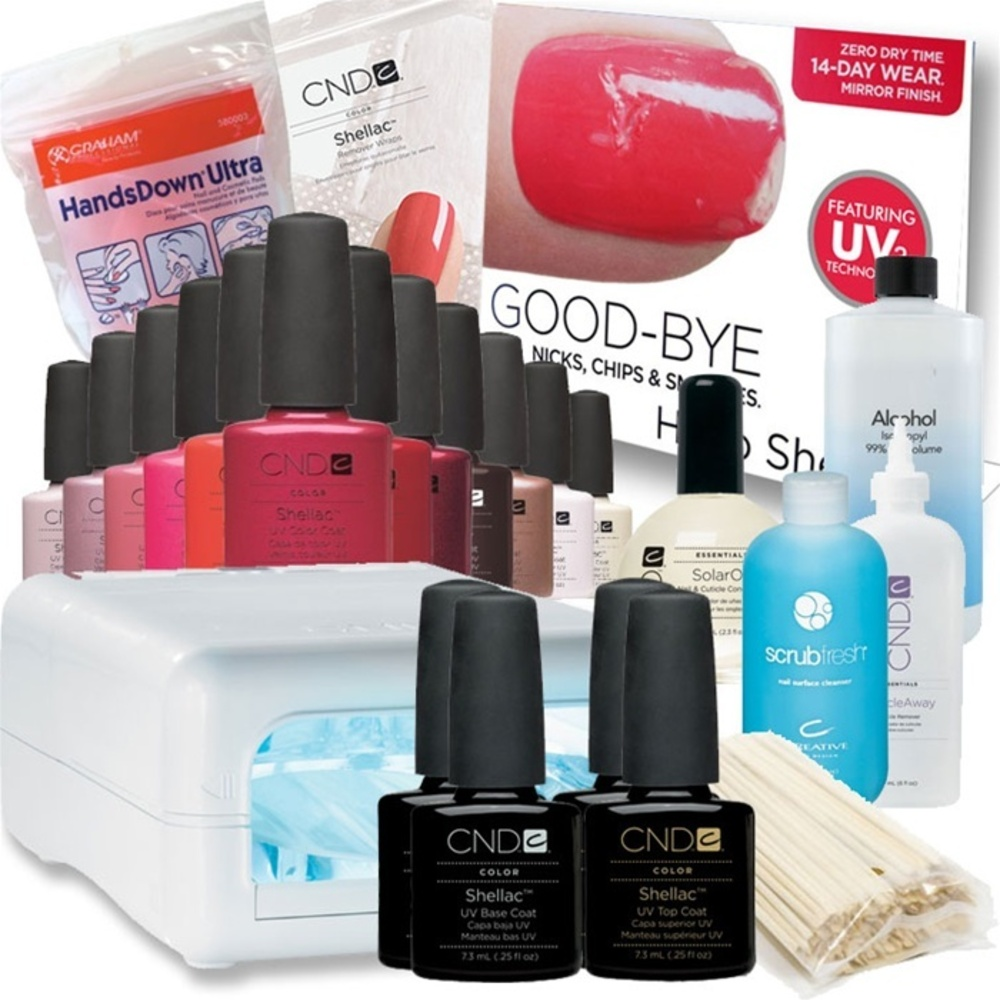 Cnd Shellac Maxi Complete Starter Kit With Programmable Cnd Shellac Uv Lamp
