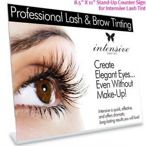 "8.5"" X 11"" Point-of-Purchase Stand-Up Counter Display for Intensive Lash Tint"