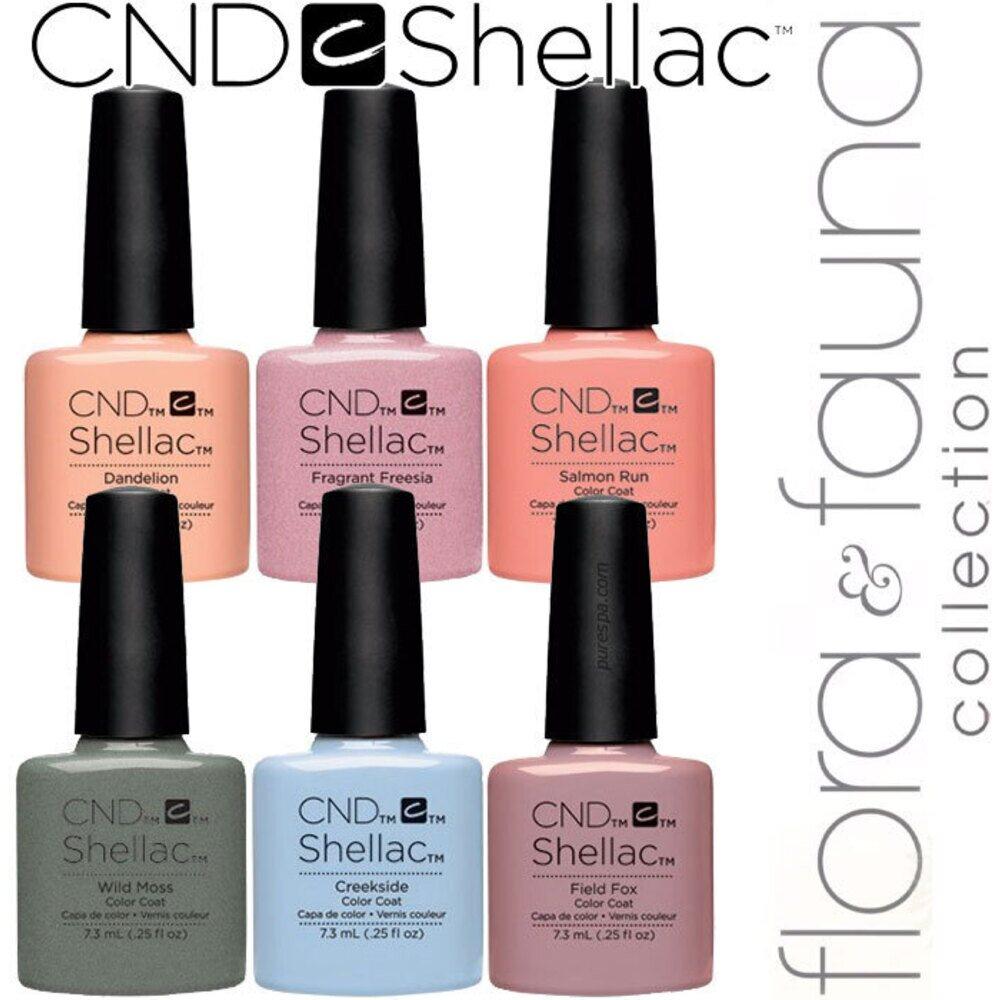cnd shellac uv color coat spring 2015 flora fauna. Black Bedroom Furniture Sets. Home Design Ideas