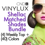 CND VINYLUX Shellac Matched Shades Bundle - 40 Vinylux Colors + 4 Weekly Top Coats (900301)
